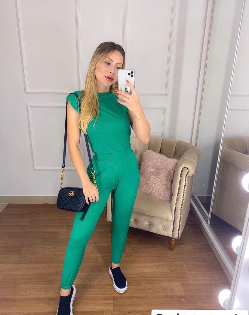 conjunto muscle viscolaycra verde - Lollita Fashion
