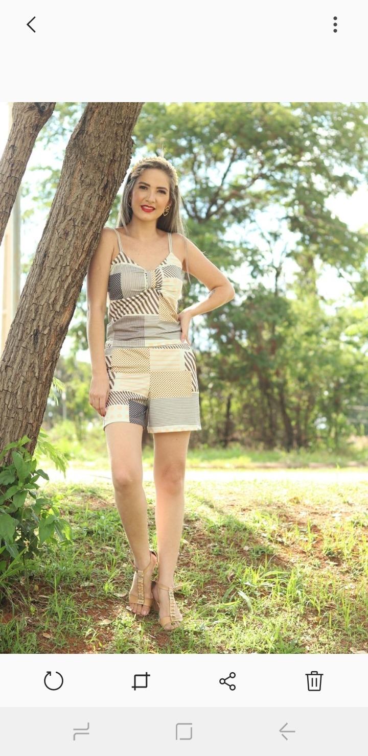Conjunto Blusa com Short Suplex Hannah Modas