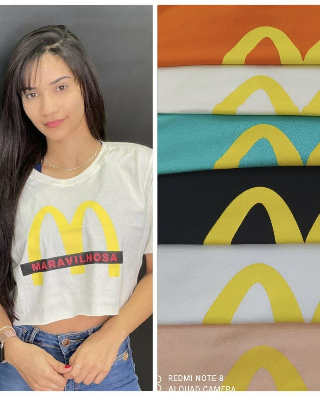 Blusa Tshirt Cropped Maravilhosa Donna Chick