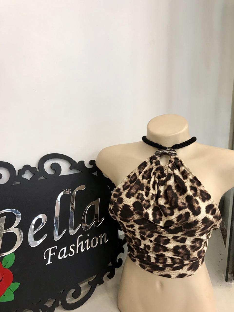 Cropped de amarração - Bella Fashion