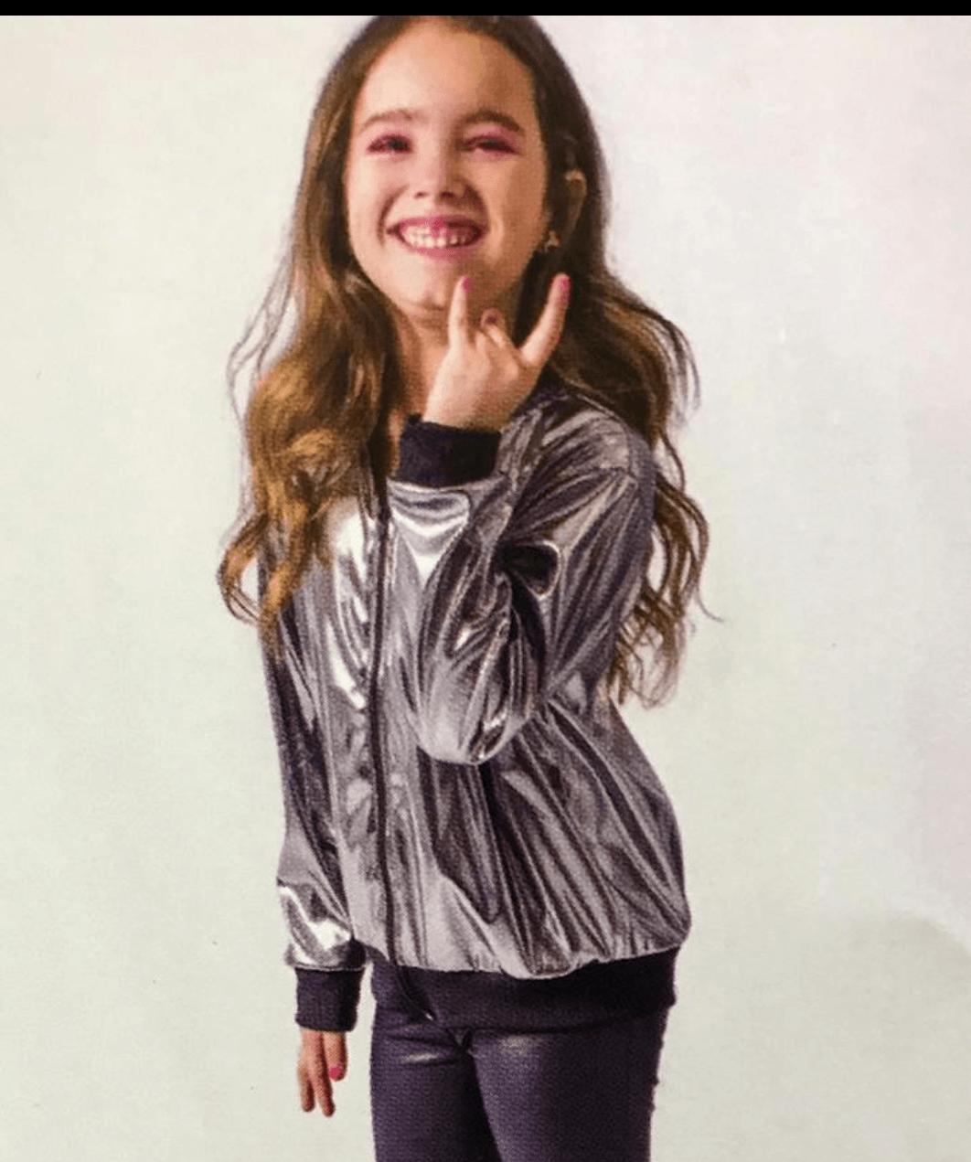 Jaqueta Bomber holografica - moderninha kids