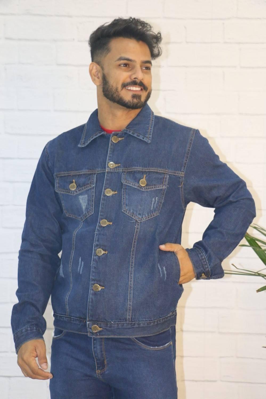 Jaqueta Jeans com Botões e Bolsos Cousins