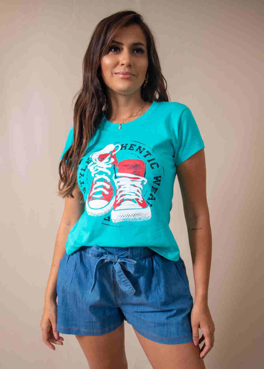 Kit 3 Blusas T-Shirts Estampas e Cores Variadas Vitória Dellas