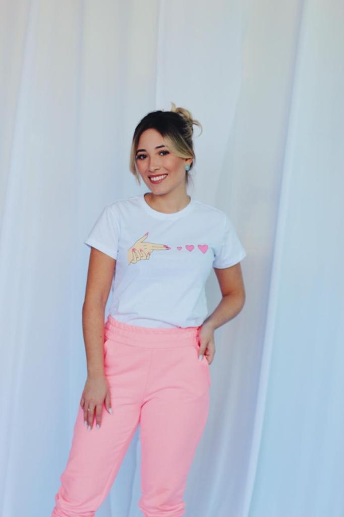 Kit 6 Blusas T-Shirt Estampa Mão Soberanika
