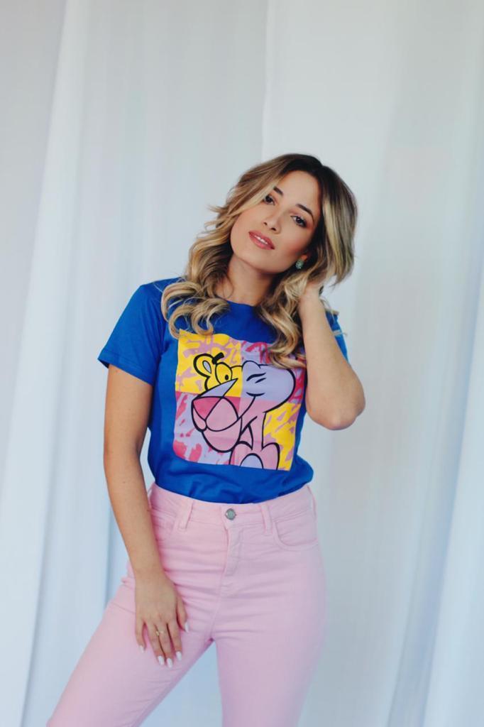 Kit 6 Blusas T-Shirts Pantera Cor de Rosa Soberanika