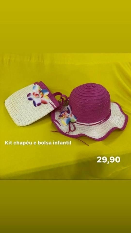Kit bolsa e chapeu infantil - Tri-carlo
