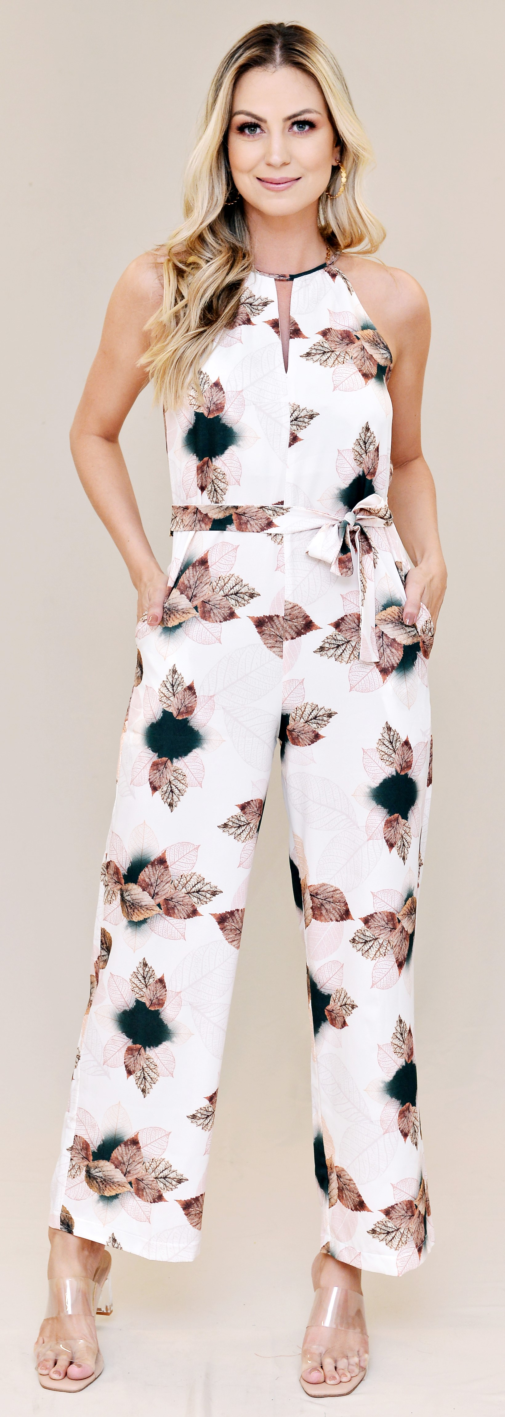 Macacão Longo Estampado - Bullgary Modas