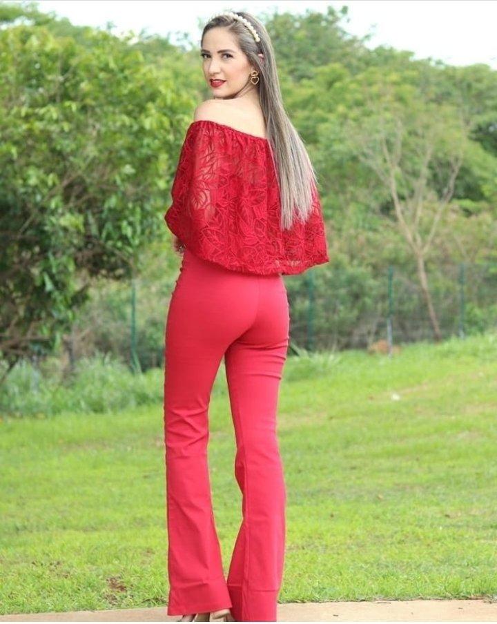 Macacão Ciganinha Vermelho Bengaline Hannah Modas