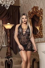 Mini Vestido Arrastão Yaffa - Y3732