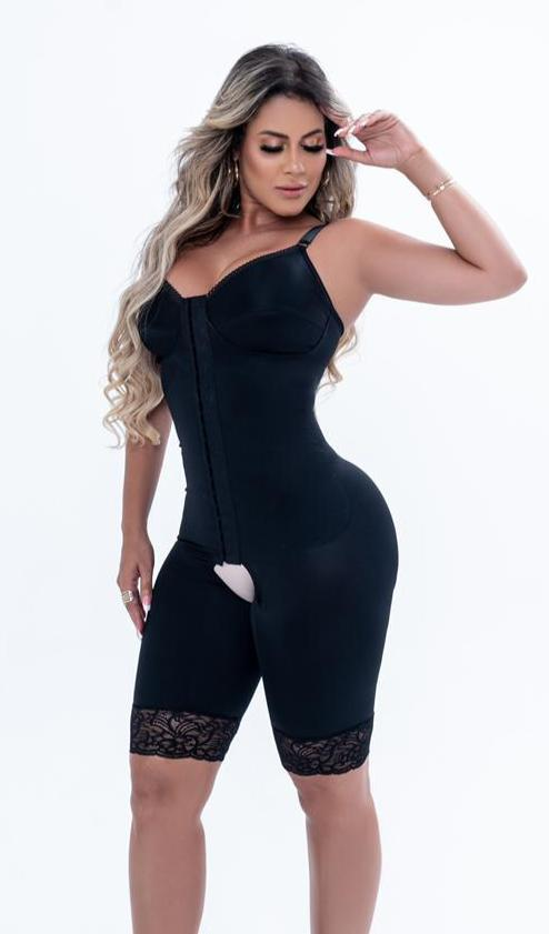 Short Modelador de Perna Reforçado de Lycra  Bella Dona Modeladores