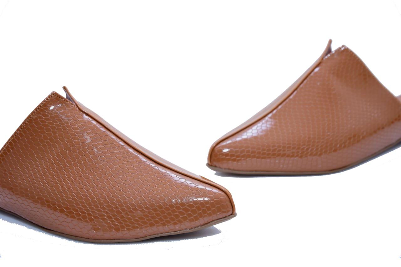 Mule Rasteira Croco Caramelo - Smart Foot Shoes