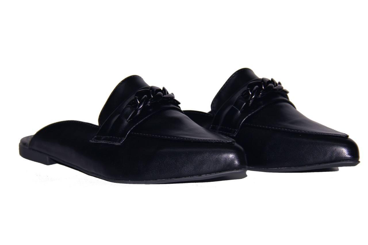Mule Rasteira Mocassin Preto - Smart Foot Shoes