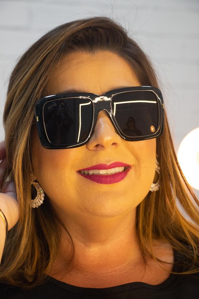 Óculos Solar Quadrado Preto Zooks Sunglasses