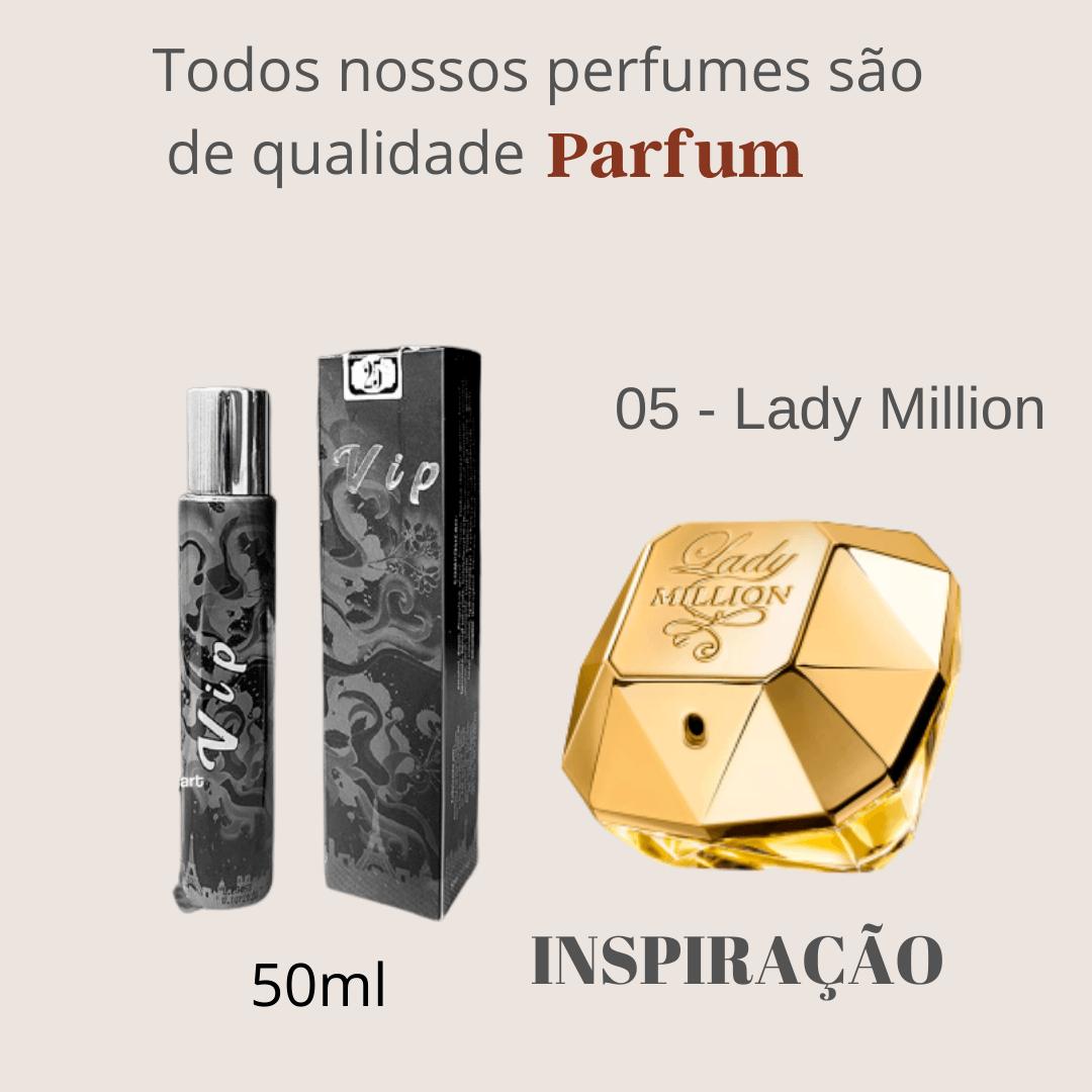 Perfume Inspiração Importado N° 05 Lady Million 50ml Touti Perfumes Parfum