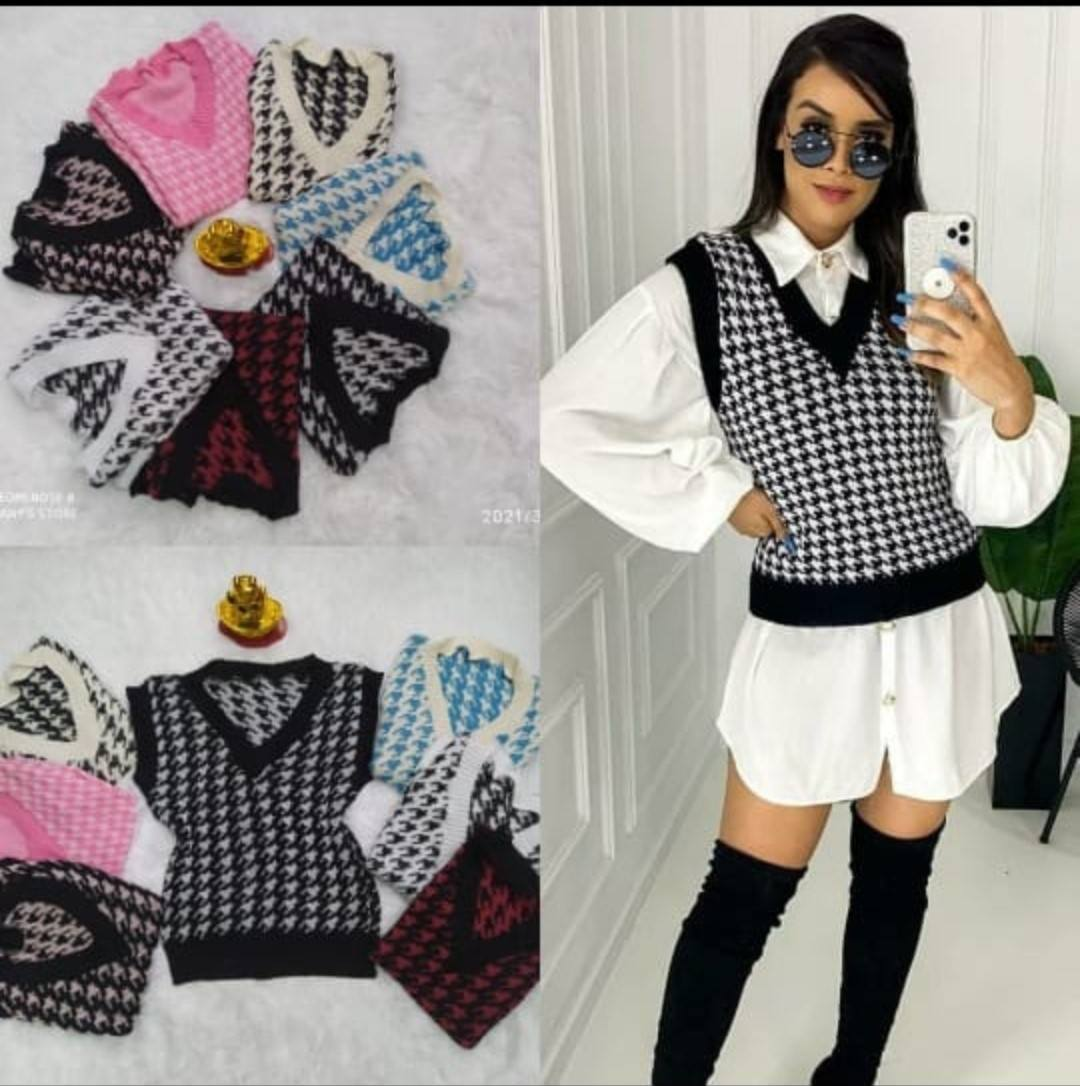 Pullover Blogueira Pied Poule
