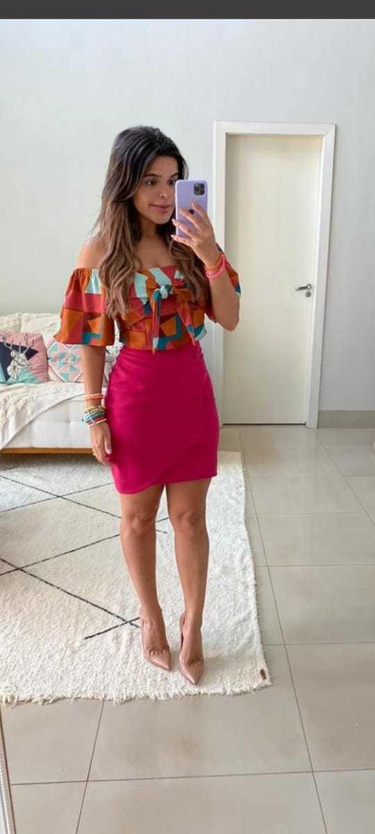 Saia curta gudinne moda feminina