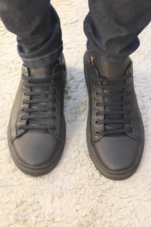 Sapato Preto de Couro Ox Originals