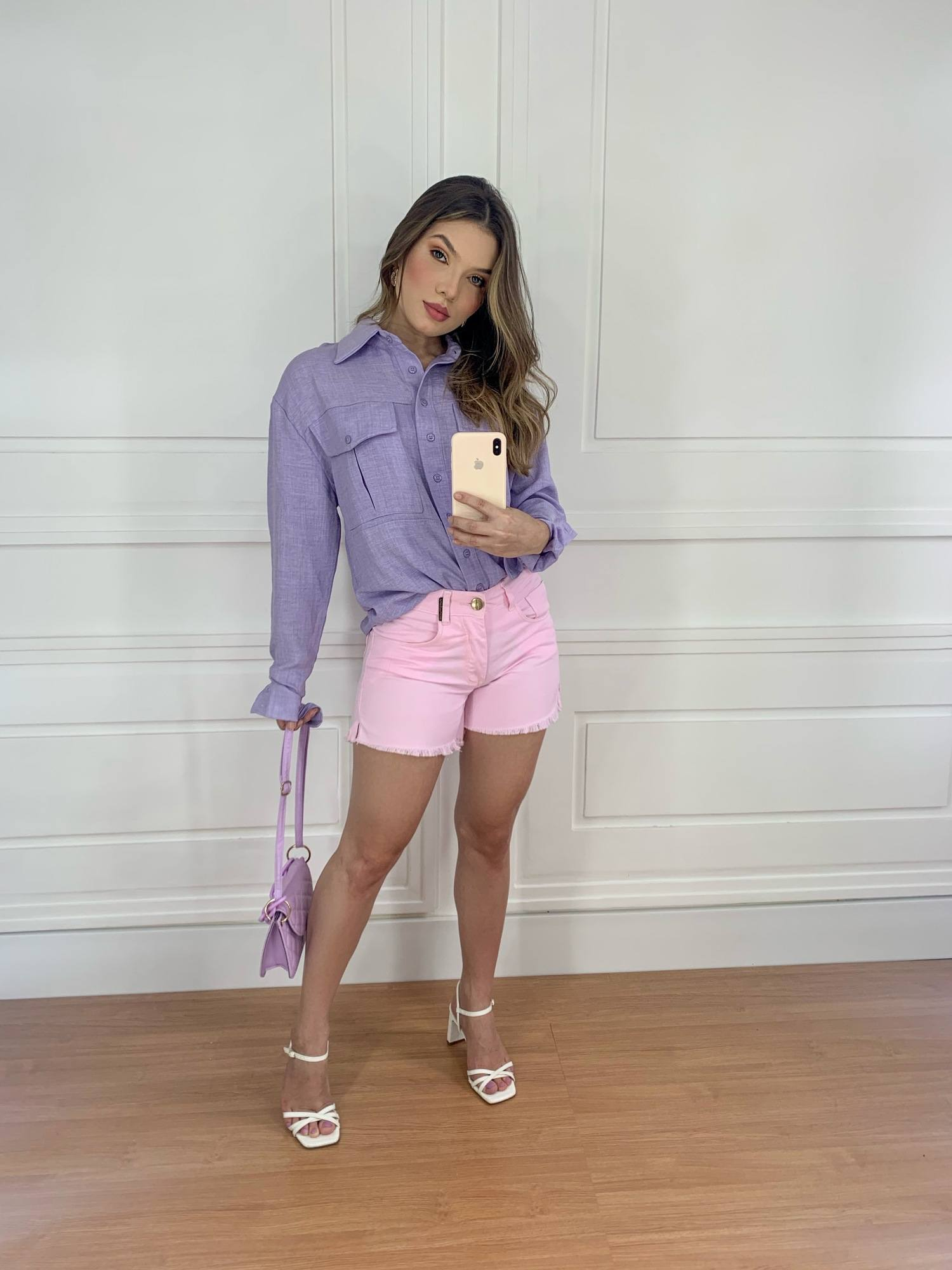 Short Jeans Rosa Doce Madame