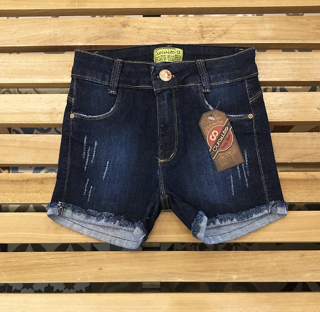 Short Jeans Feminino Circuito Jeans