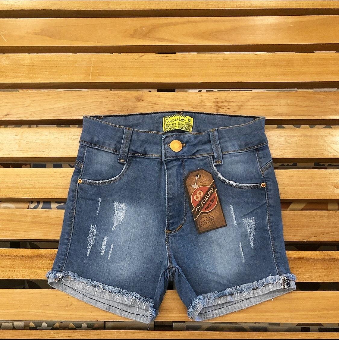 Short Jeans Feminino Com Elastano Circuito Jeans