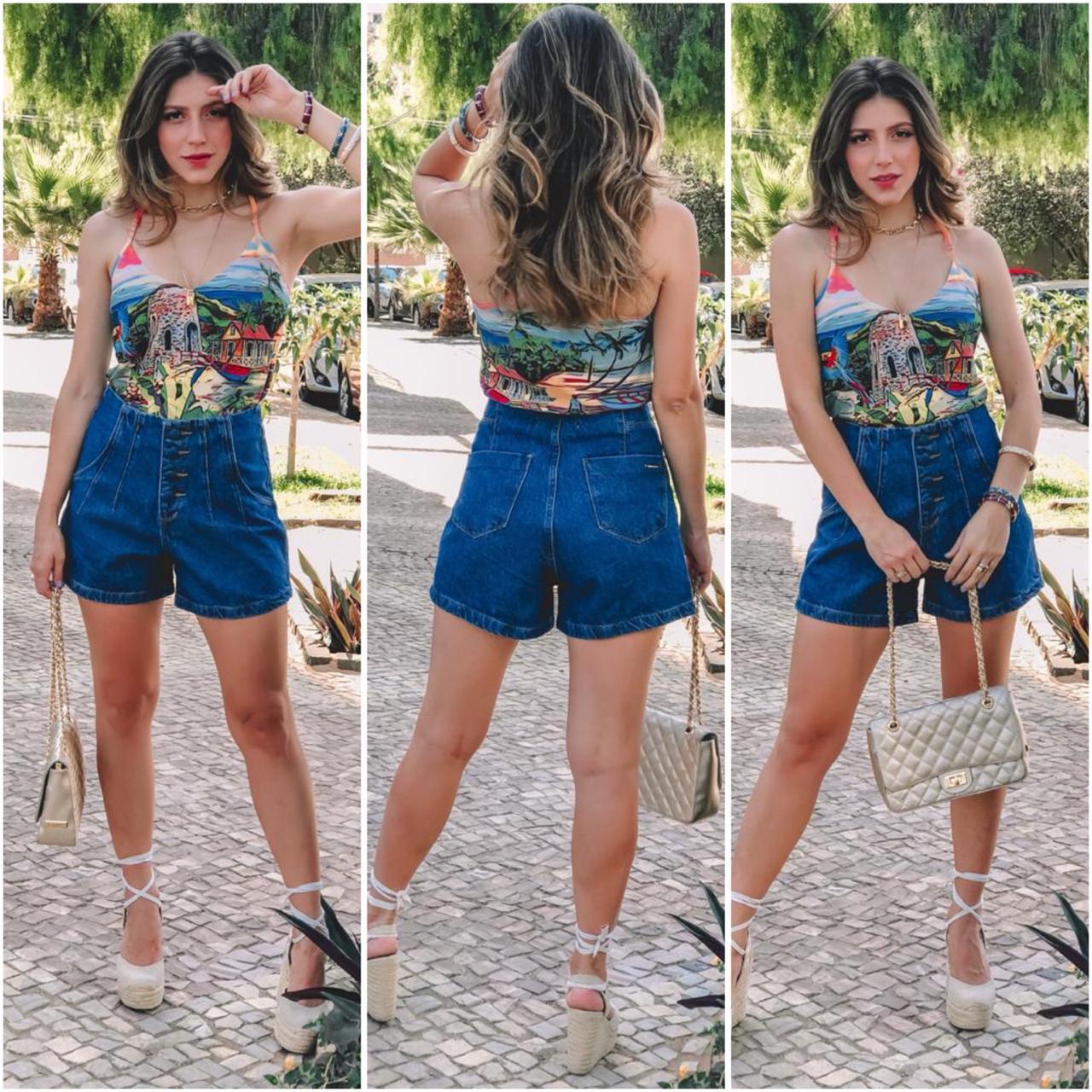 Short Mom com Cós Revel Sthraus Jeans