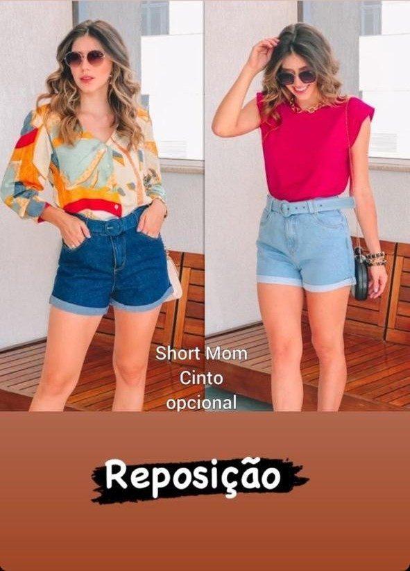 Short Mom com Barra Dobrada Sthraus Jeans