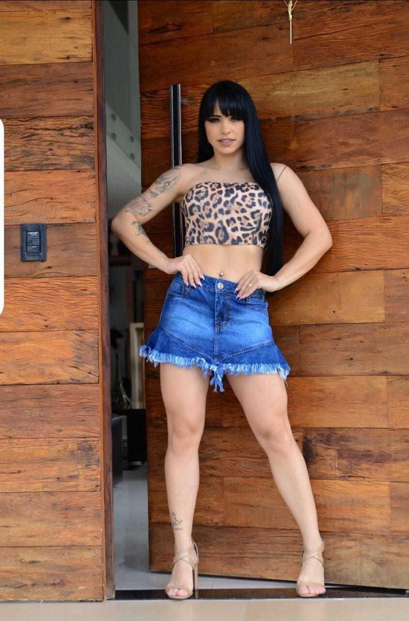 Short Saia Jeans Infinity Brasil