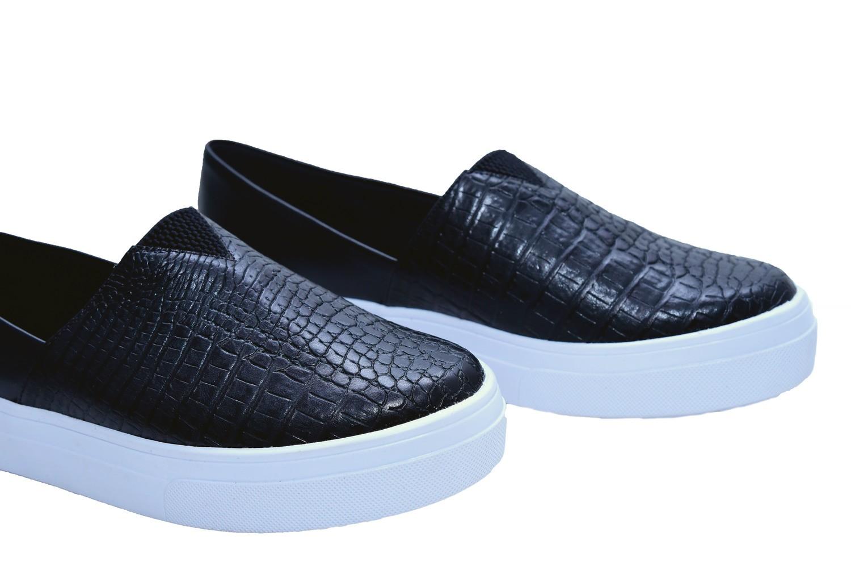 Slip On Croco Preto - Smart Foot Shoes
