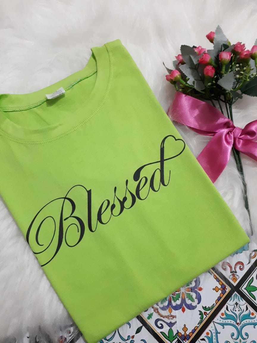 T-shirt Blessed - Trielas Modas