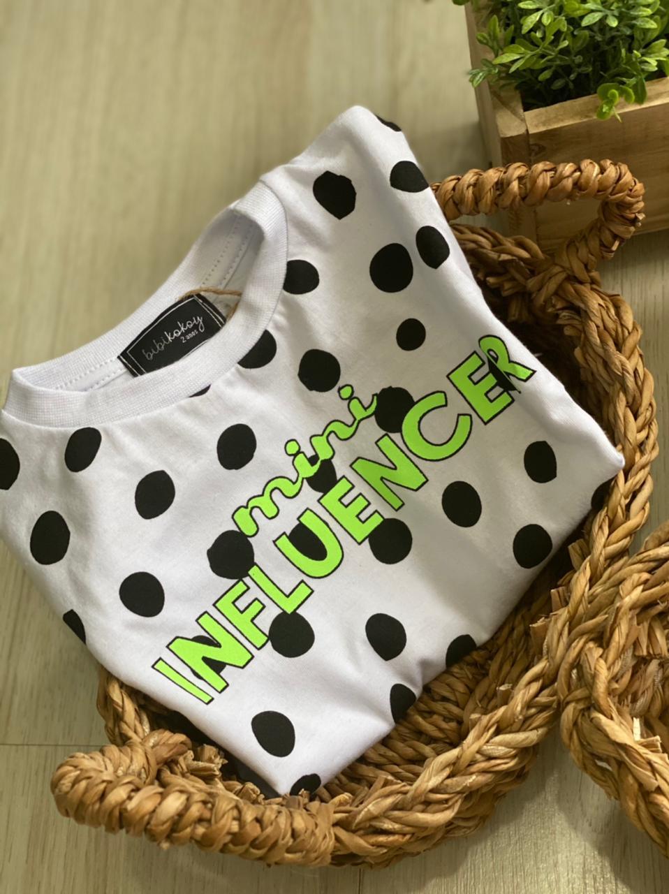T-shirt Mini Influencer - PIJAMAS UPA CAVALINHO