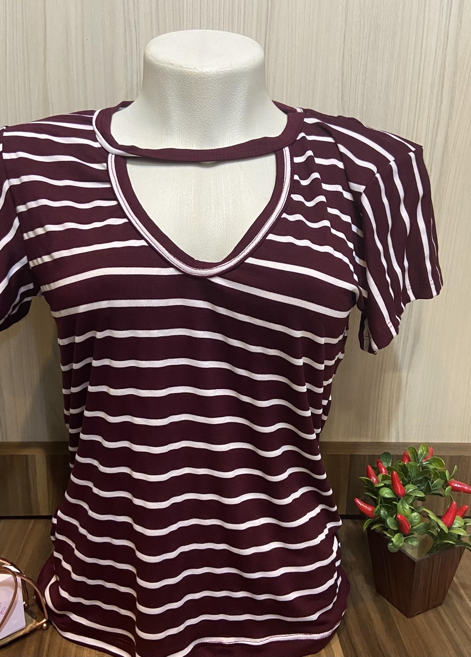 Tshirts e cropped listrado - LA BELLE FEMININE FASHION