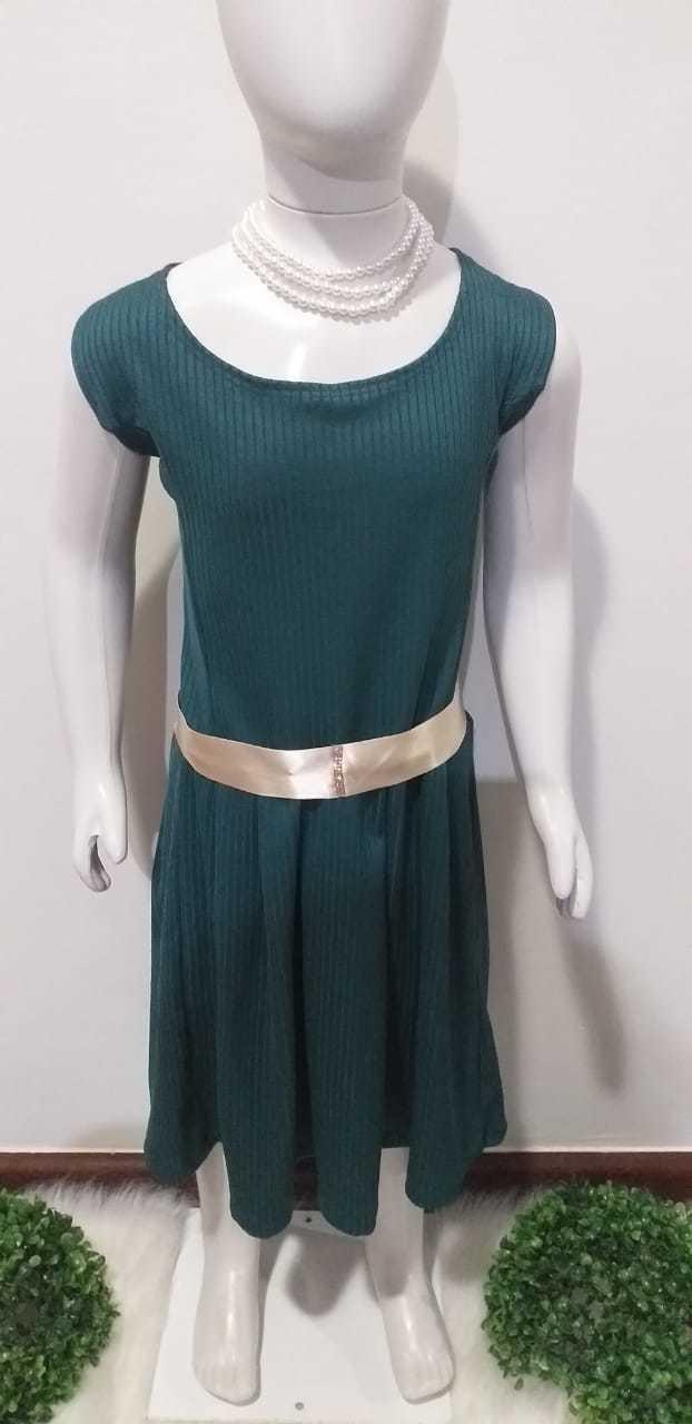 Vestido Canelado - Bijoutier