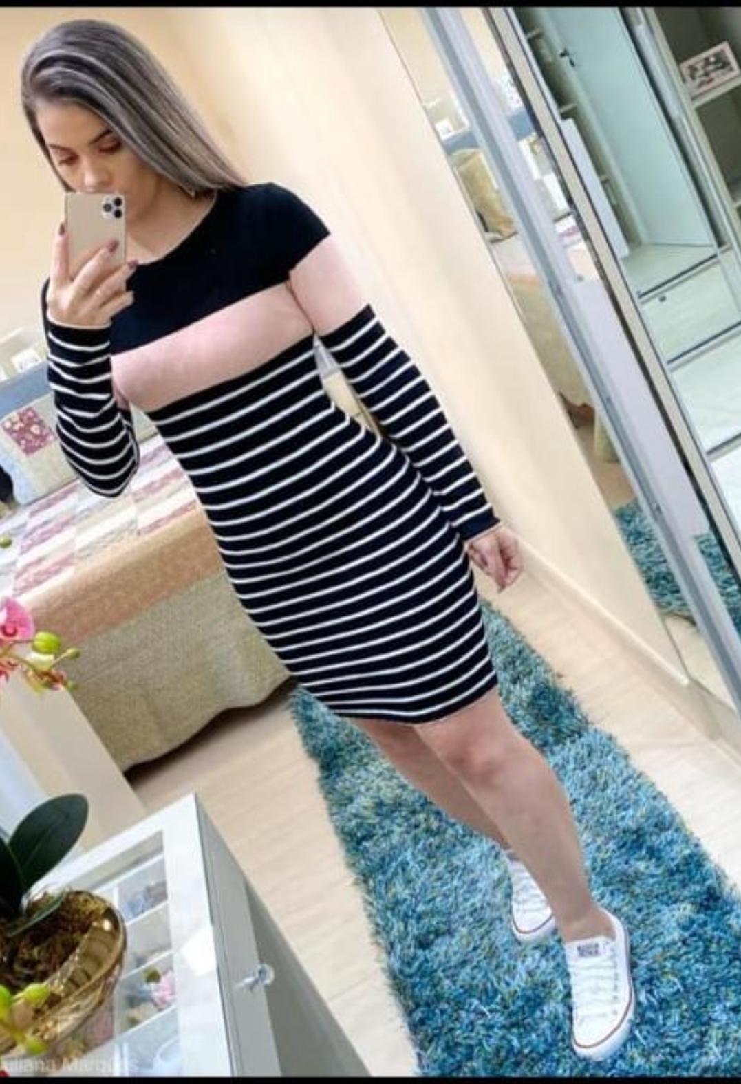 Vestido Clara tricot- Diva Fashion GYN