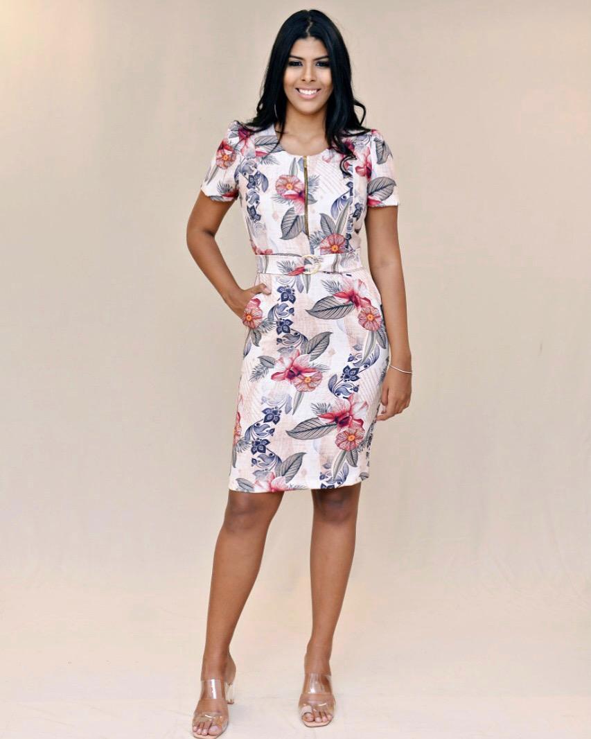 Vestido com zíper Hemilly Fashion