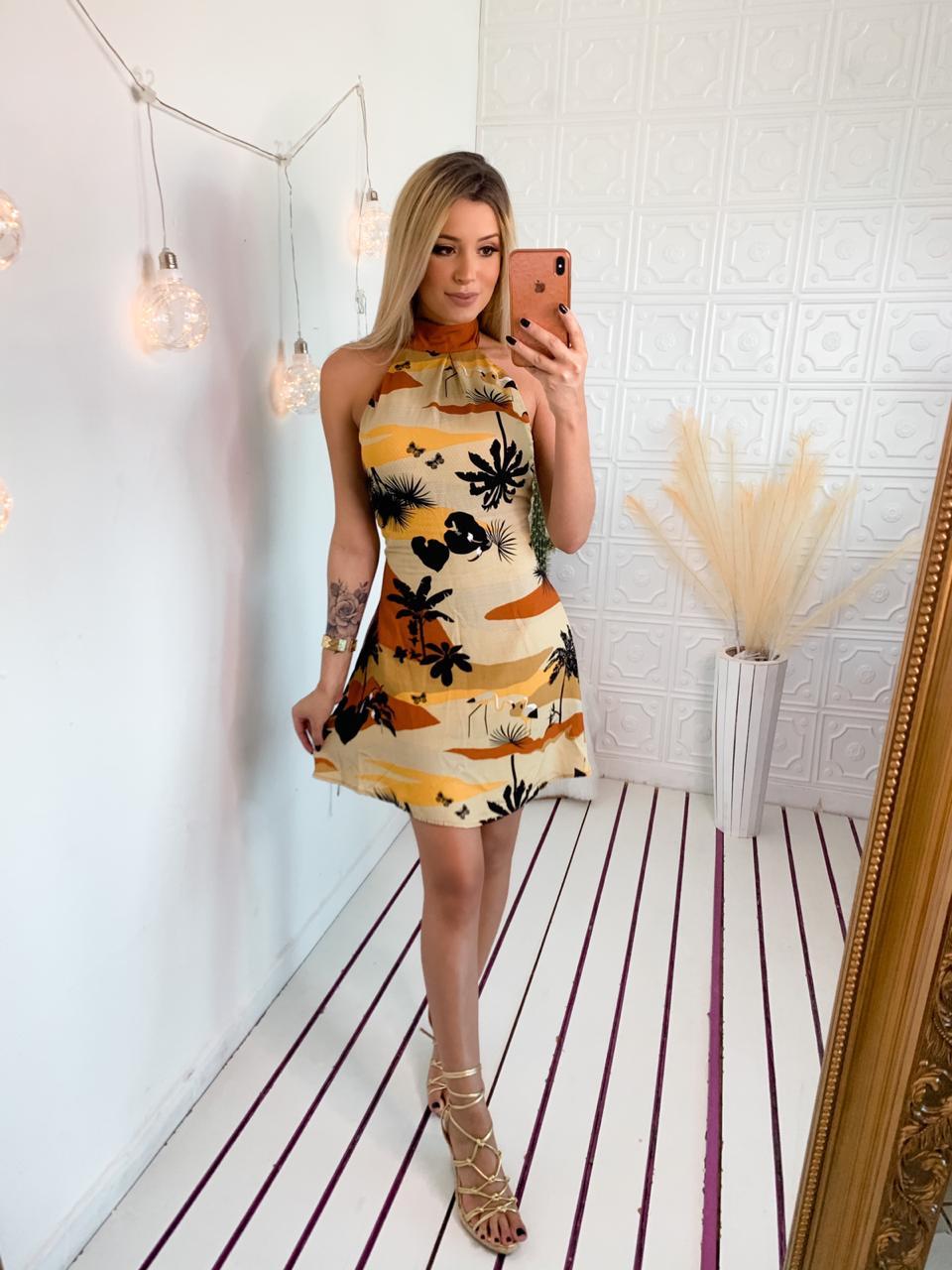 Vestido Estampa Evase - Credencial X
