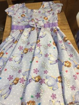 Vestido infantil - Lut flor do sol