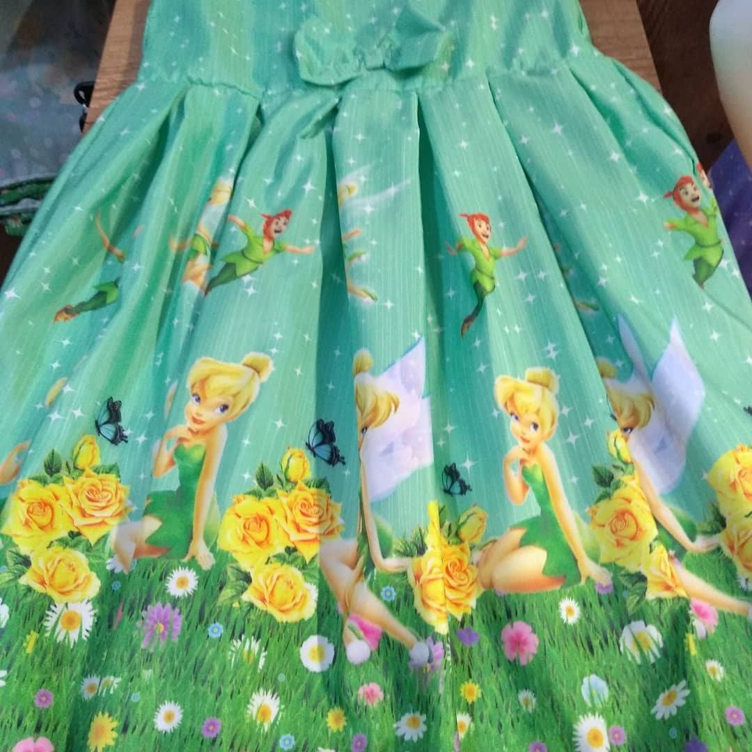 Vestido infantil temático - Lut flor do Sol