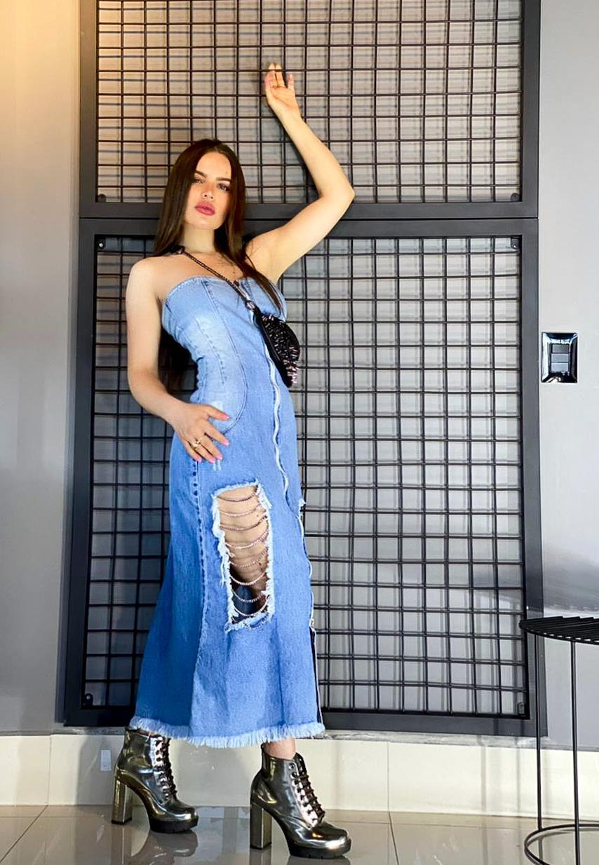 Vestido Jeans - Renata Santana Jeans