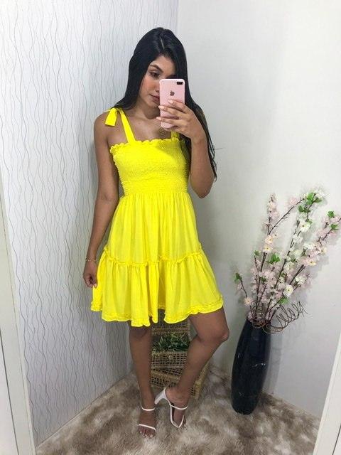 Vestido lastex color