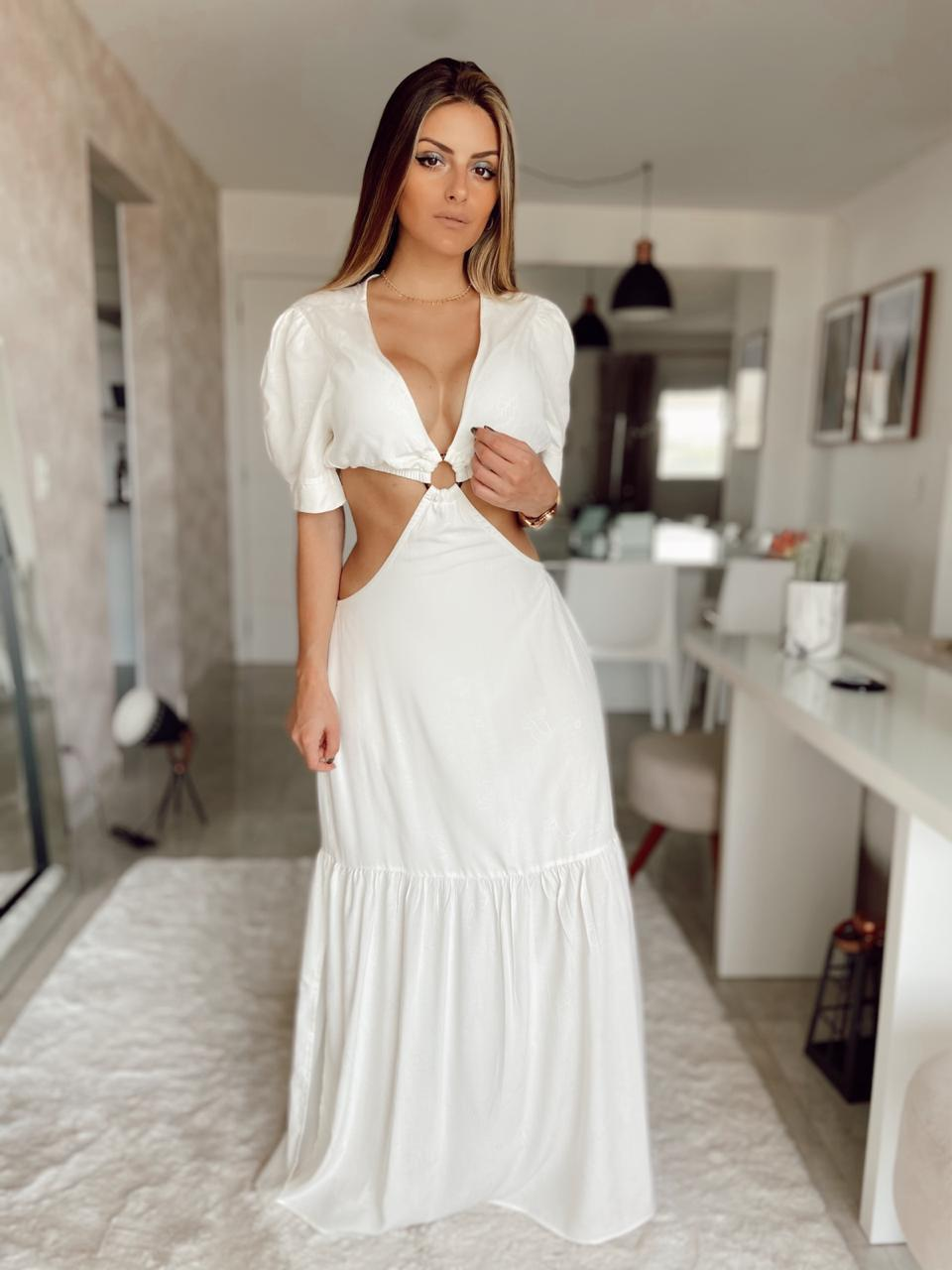 Vestido Longo Decotado - LORRANY E WANESSA MODAS
