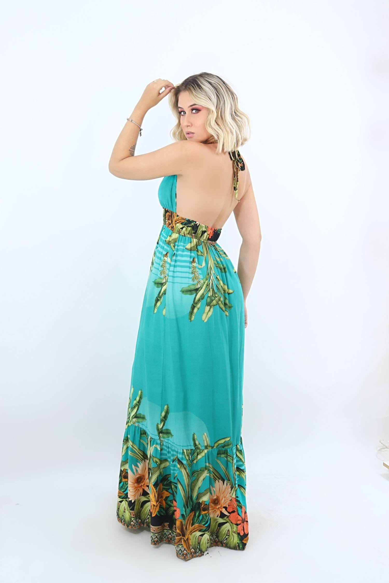 Vestido longo- Leliz.com