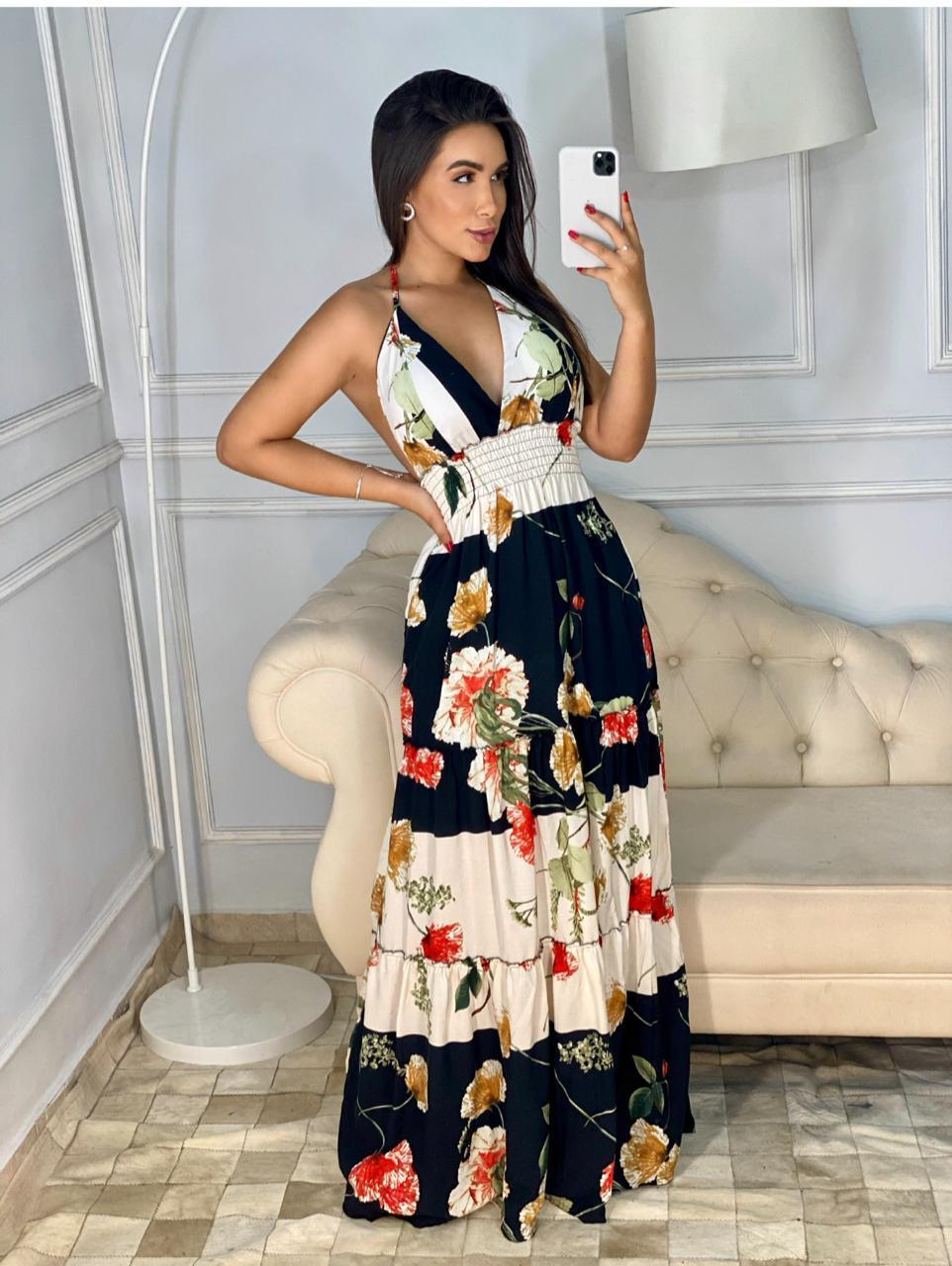 Vestido longo- Neyde Moda