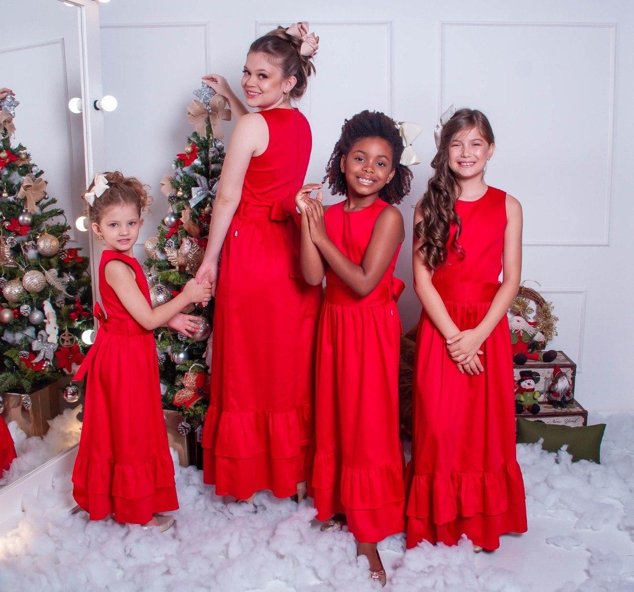Vestido Longo Vermelho A Piruinha