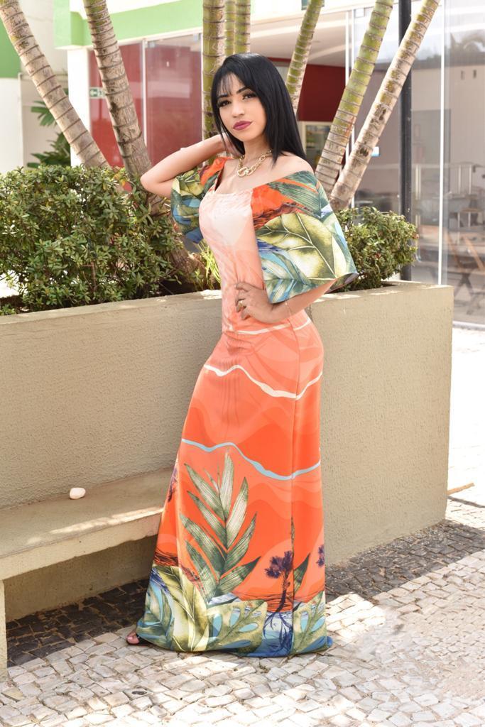 Vestido longo-Vitoria Rub