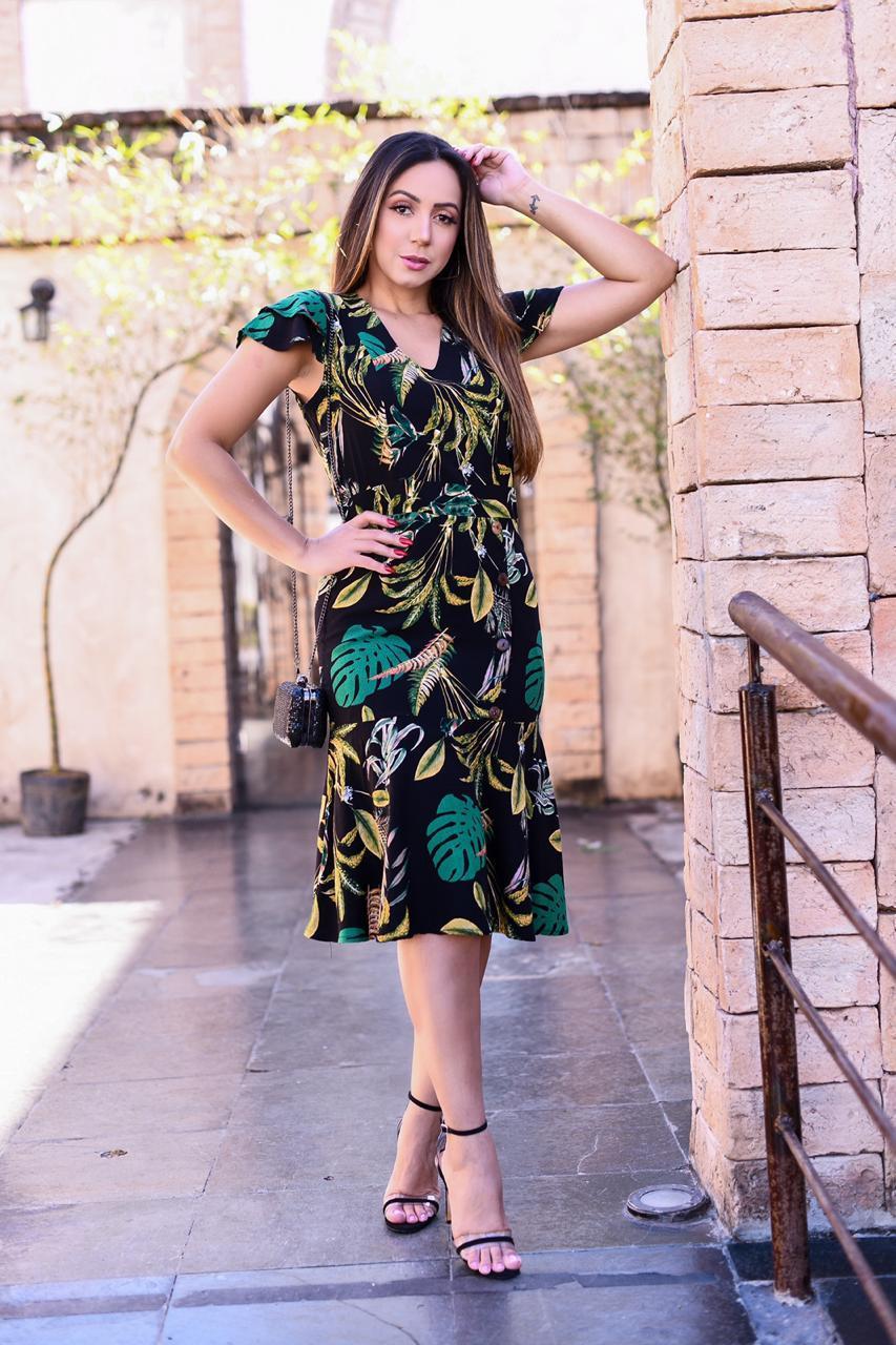 Vestido Midi - REF 33 - GAJAN MODA FEMININA