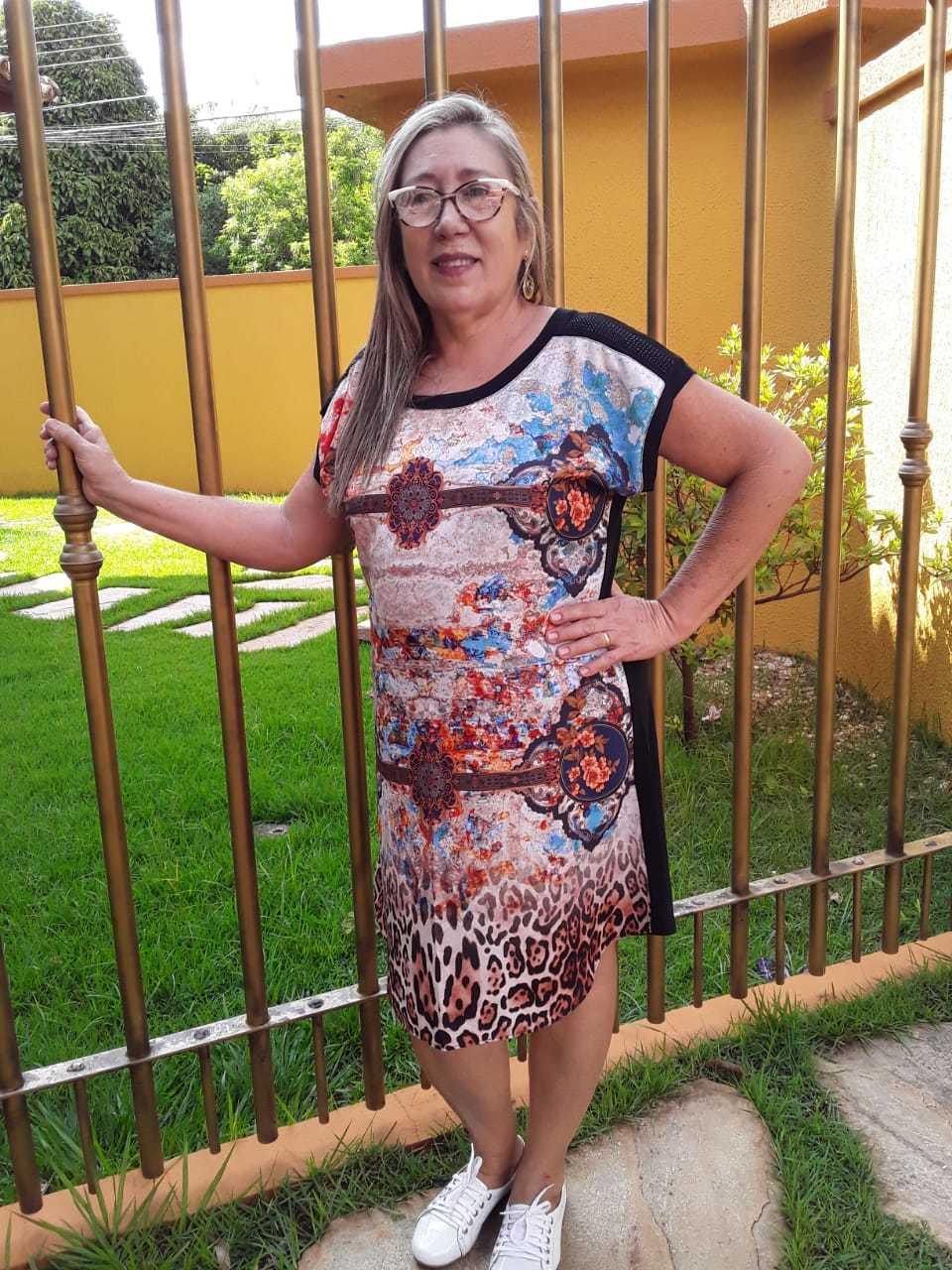 VESTIDO MODA MAIOR NO CREPE COM VISCOLYCRA - MARCÔ FASHION