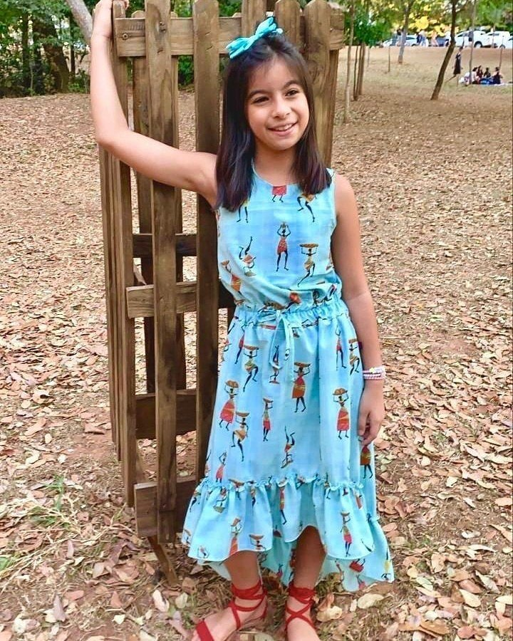 Vestido Mullet infantil - Estilosa teen