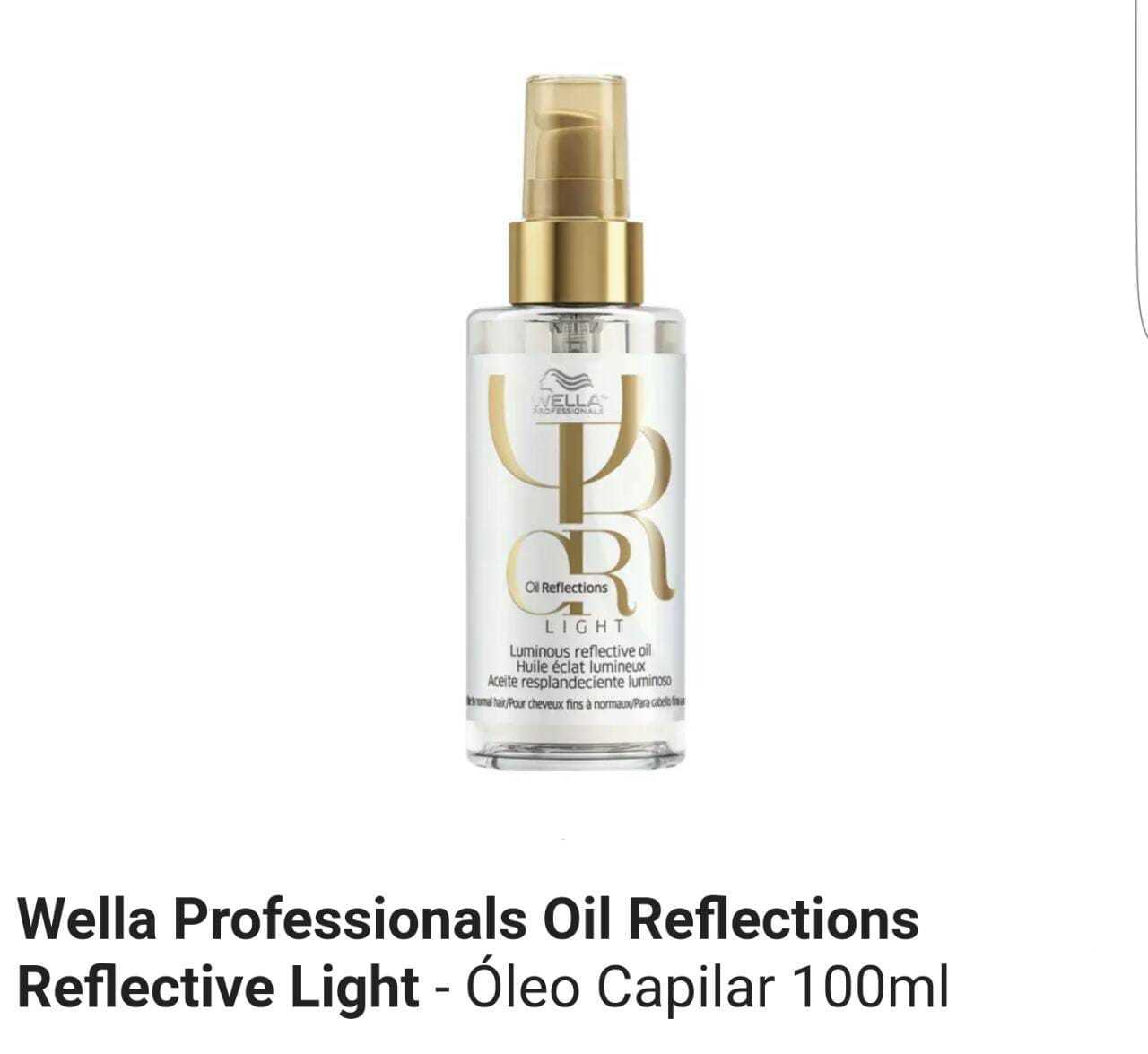 Óleo Capilar Wella Oil Reflections Light 100 ml MS Cosmético