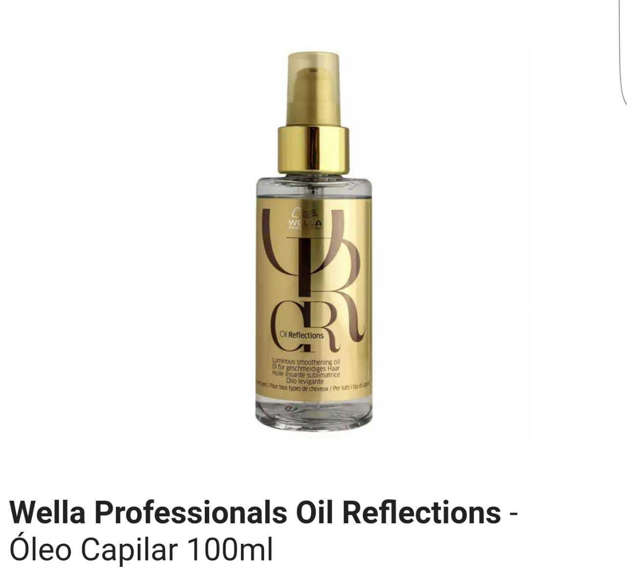Óleo Capilar Wella Oil Reflections 100 ml MS Cosmético