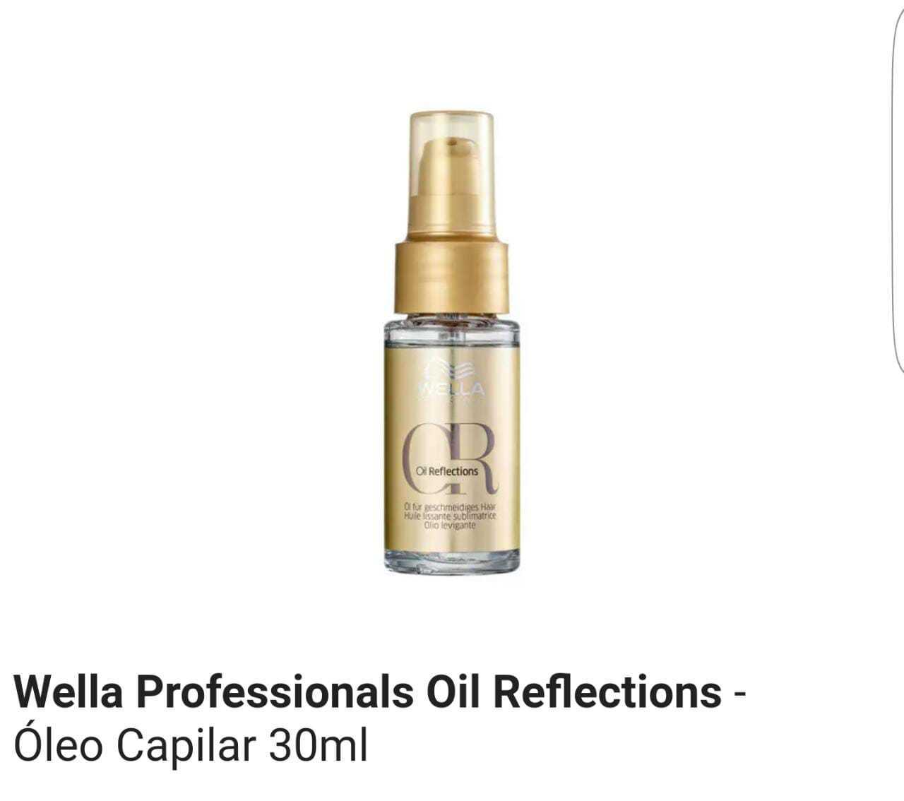 Óleo Capilar Wella Oil Reflections 30 ml MS Cosmético